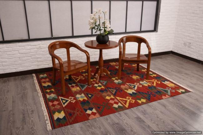 Tappeti Colorati Per Salotto : Tappeto kilim per ingresso e salotto 95x155 cm in vendita online
