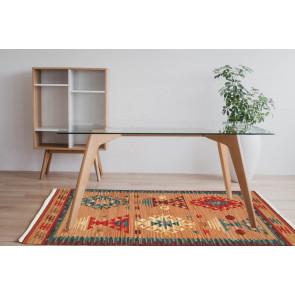 Tappeto Kilim 15-4 fatto a mano, 95x155 cm