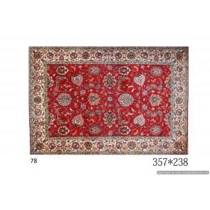 Tappeto Persiano Tabriz con Decorazioni - Dimensioni: 238x357 cm
