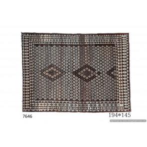 Tappeto Gabbeh Afgano Moderno 194x145 cm