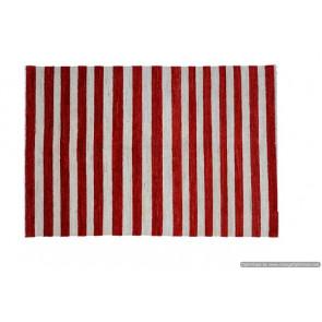 Tappeto Gabbeh Moderno Bianco e Rosso - Dimensioni 124x185 cm