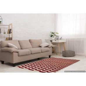 Tappeto Kilim Quadrato 6-RED misura 210x210 cm