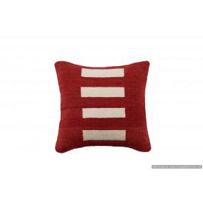 Cuscino Kilim stile afgano Rosso - Dimensioni 45x45 cm