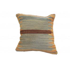 Cuscino Kilim stile afgano 45x45 cm giallo marrone blu