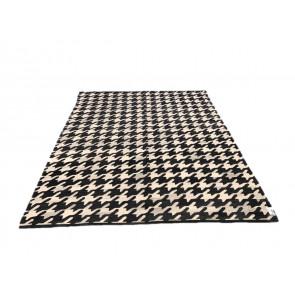 Afghan Kilim 2 255x310 cm bianco e nero